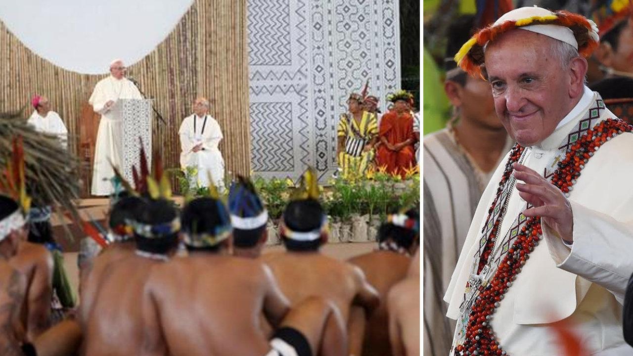 L'antipape François loue la « richesse spirituelle » et la « sagesse ancestrale » des autochtones de la rivière Amazone