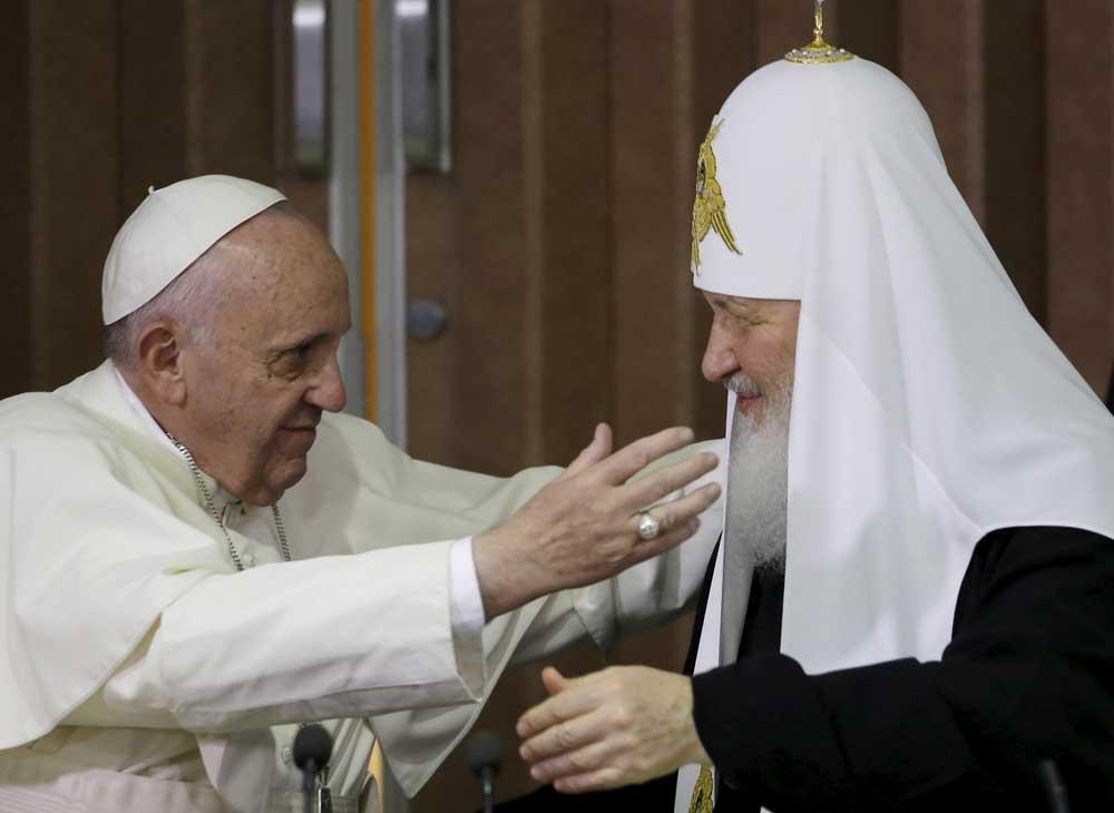 L'antipape François et le schismatique « orthodoxe » Kirill
