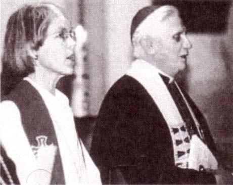 Benoît XVI avec une « ministre » luthérienne