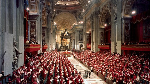 Une session de Vatican II