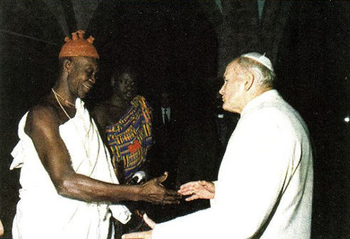 Jean-Paul II rencontre des animistes africains