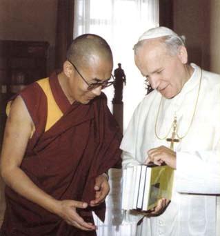 Une autre photo de Jean-Paul II et du Dalaï Lama
