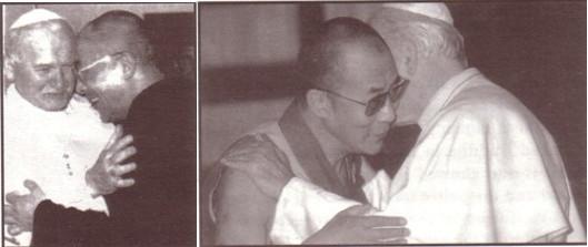 Jean-Paul II et le Dalaï-lama