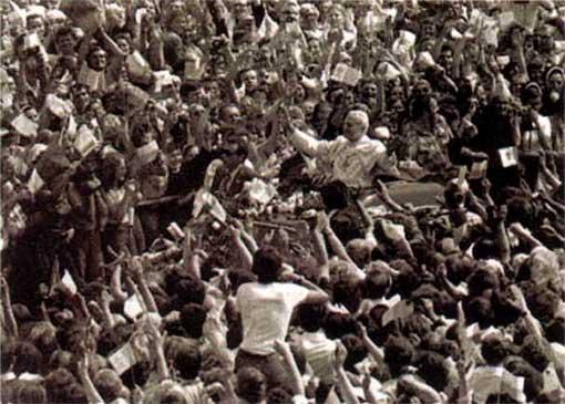 Première visite de Jean-Paul II en Pologne, en tant qu'antipape (1979)