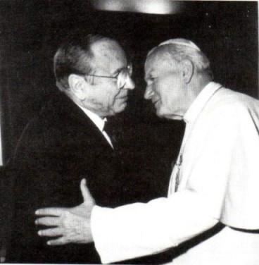 Jean-Paul II et Jerzy Kluger
