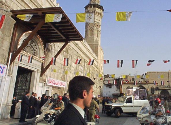Jean-Paul II à la « Grande Mosquée des Omeyyades » de Damas, 6 mai 2001