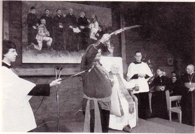 Jean-Paul II assistant à un rituel païen
