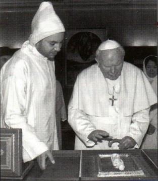 Jean-Paul II et le roi du Maroc