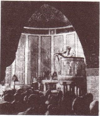 Autre photo de Jean-Paul II dans le temple luthérien