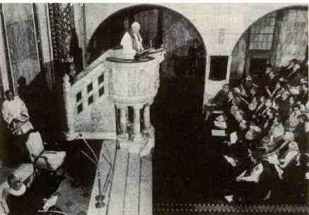 Jean-Paul II dans le temple luthérien