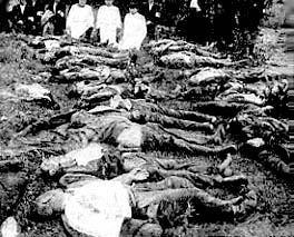 Cadavres de lituaniens après la vague d'élimination par l'Union soviétique de ceux qu'elle considérait comme une menace à sa prise de contrôle totale.