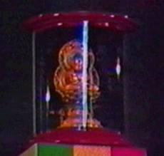 Statue du Bouddha sur le tabernacle