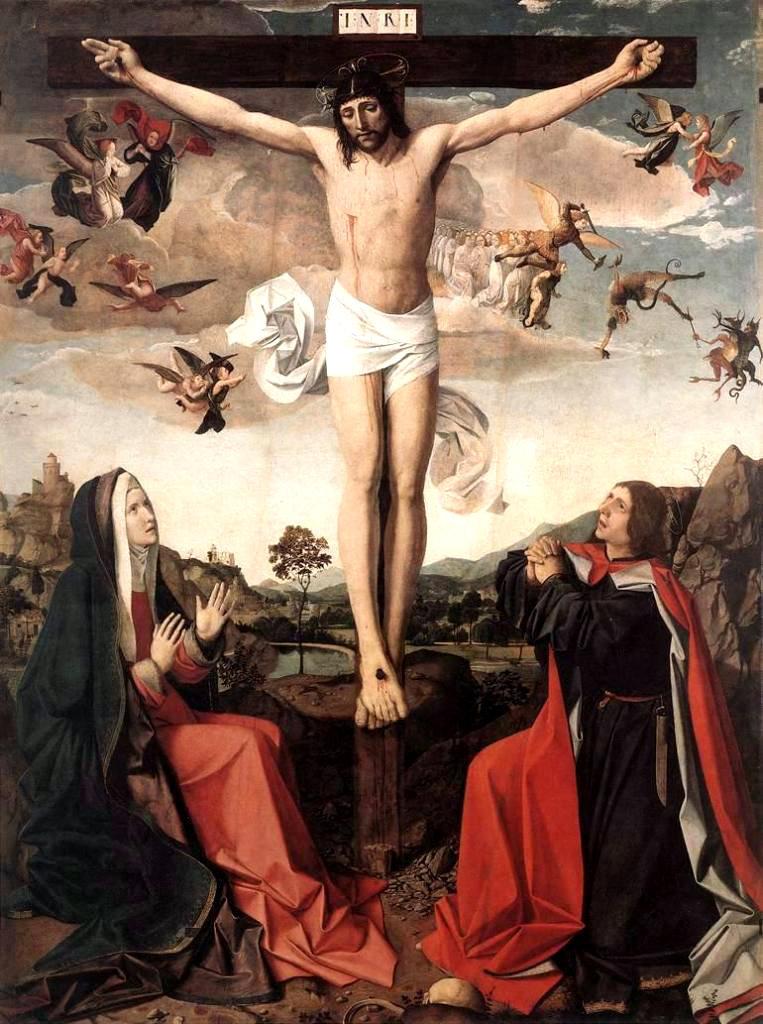 En mourant sur la Croix, Jésus confie le soin de sa mère à l'Apôtre Jean