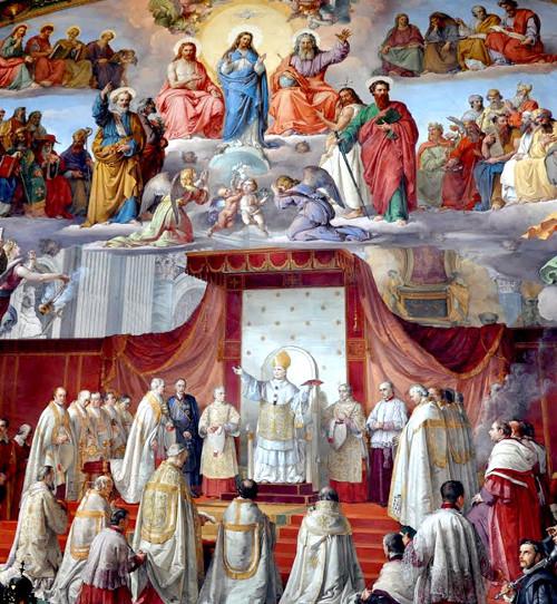 Le pape Pie IX déclara le dogme de l'Immaculée Conception le 8 décembre, 1854