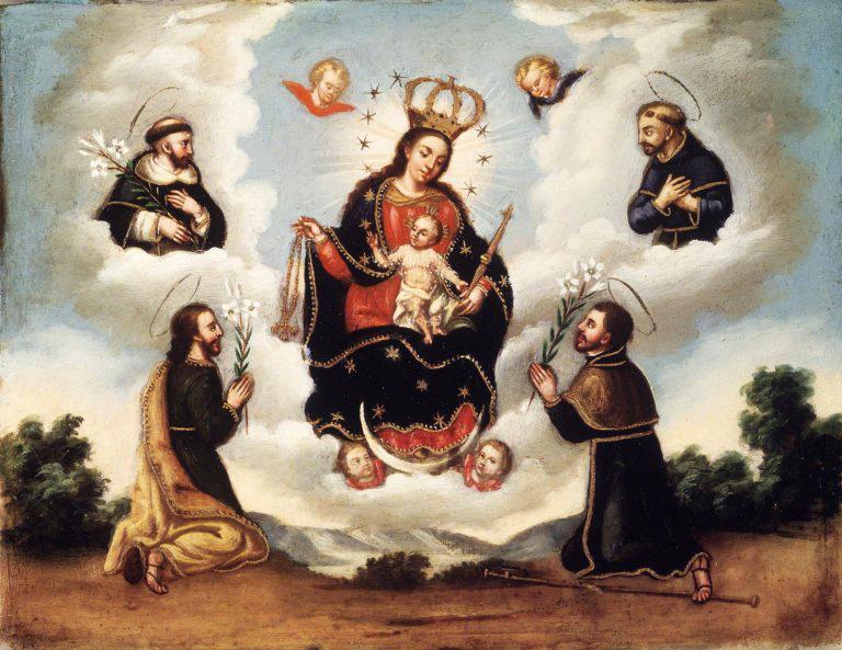 La Vierge Marie du Rosaire avec les Saints