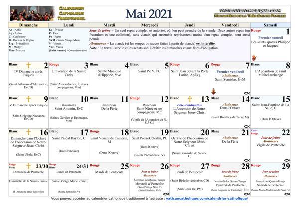 Mois de mai 2021