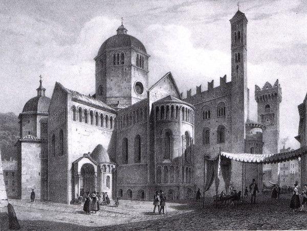 Cathédrale de San Vigilio à Trente. C'est dans le presbytère que se sont tenus les sessions du concile de Trente