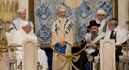 L'antipape François se rend dans une synagogue à Rome