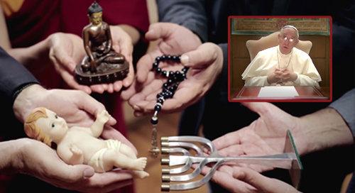 La vidéo de l'antipape François - son apostasie à travers le « dialogue interreligieux »