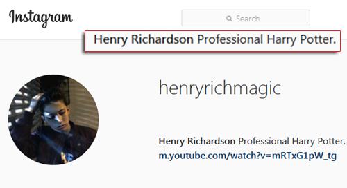 Le « magician » Henry Richardson