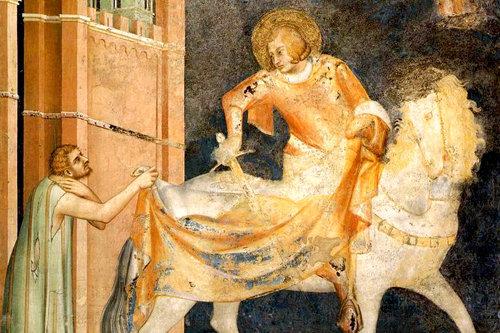 Saint Martin de Tours a ramené à la vie un catéchumène qui venait de mourir, pour être en mesure de le baptiser