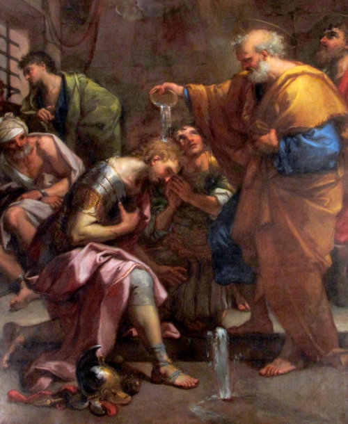 Saint Pierre baptise Processus et Martinien