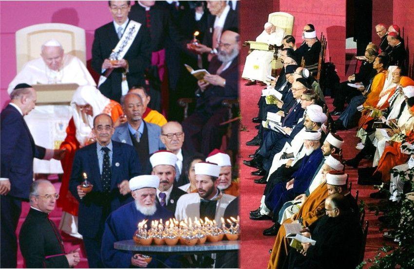 Rencontre de prière de Jean-Paul II avec des fausses religions à Assise en 2002