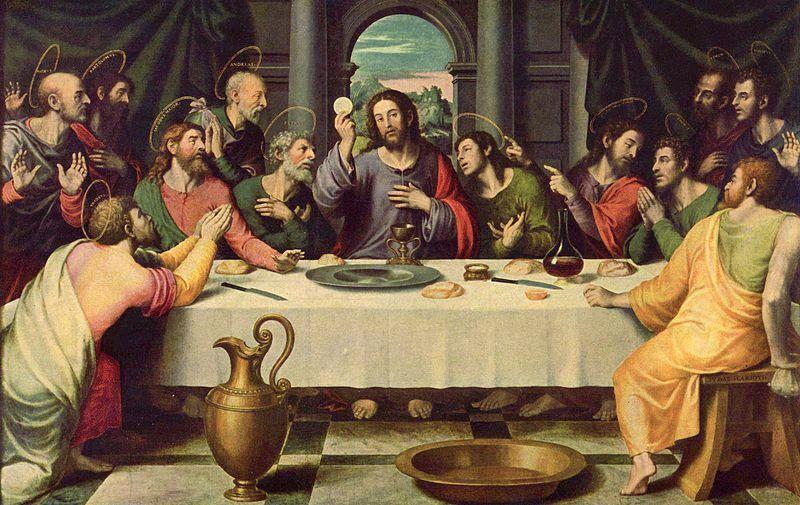 Jésus-Christ et les douze Apôtres durant la dernière Cène