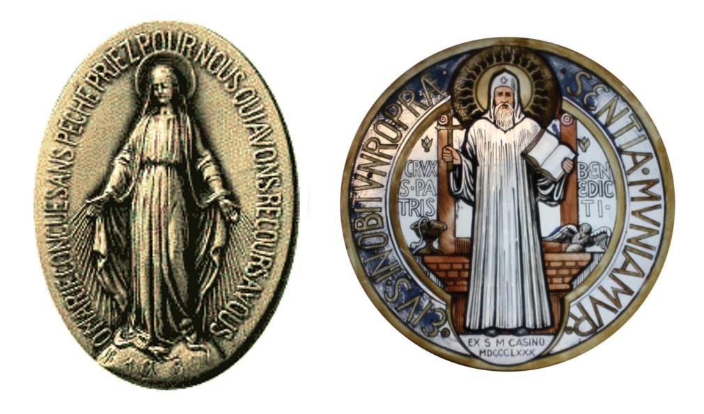 Médaille Miraculeuse et Médaille de Saint-Benoît