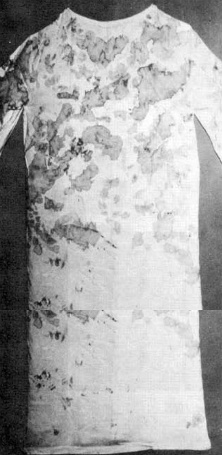 Chemise de Padre Pio tachée de sang