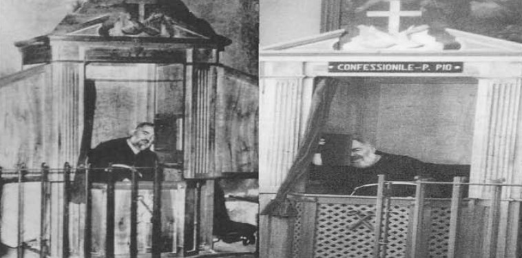 Padre Pio au confessionnal