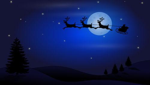 « Père Noël » vole,traineaux, rennes