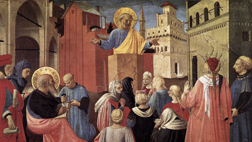 Saint Pierre Apôtre, prédication, Pentecôte