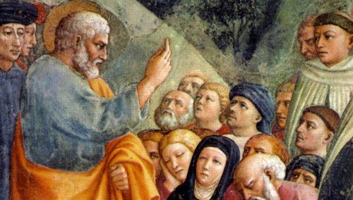 La prédication de saint Pierre Apôtre, le premier pape