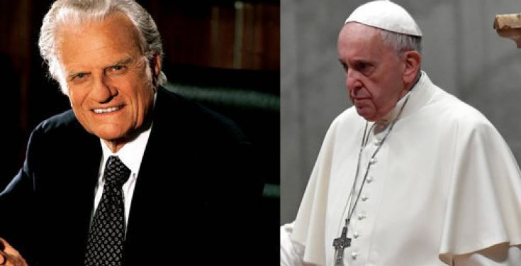 Antipape François : « long et dévoué service à l'Évangile » de l'hérétique Billy Graham